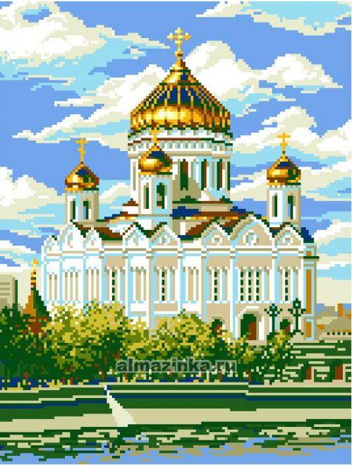 Алмазная живопись «Храм Христа