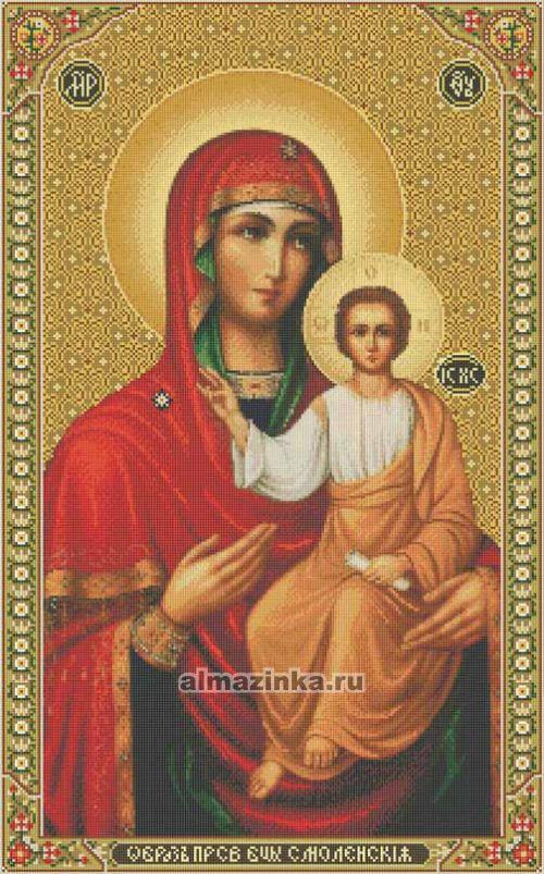 Вышивка смоленской иконы божьей матери