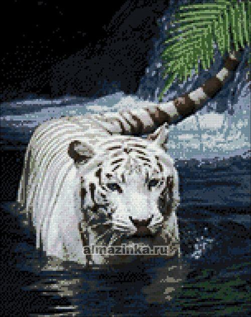 Алмазная вышивка тигр фото готовой работы