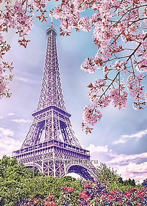 Весна в париже вышивка