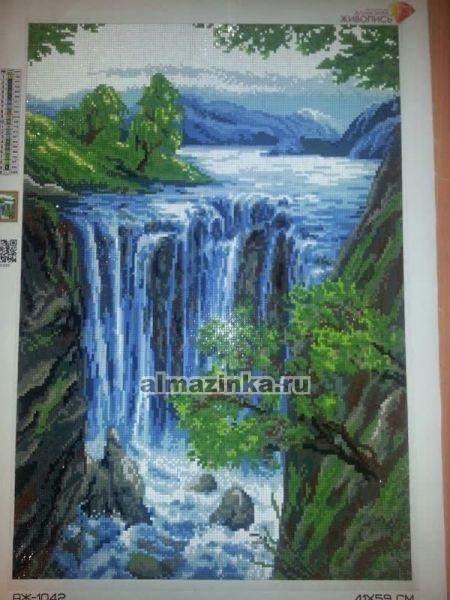 Вышивка стразами водопады