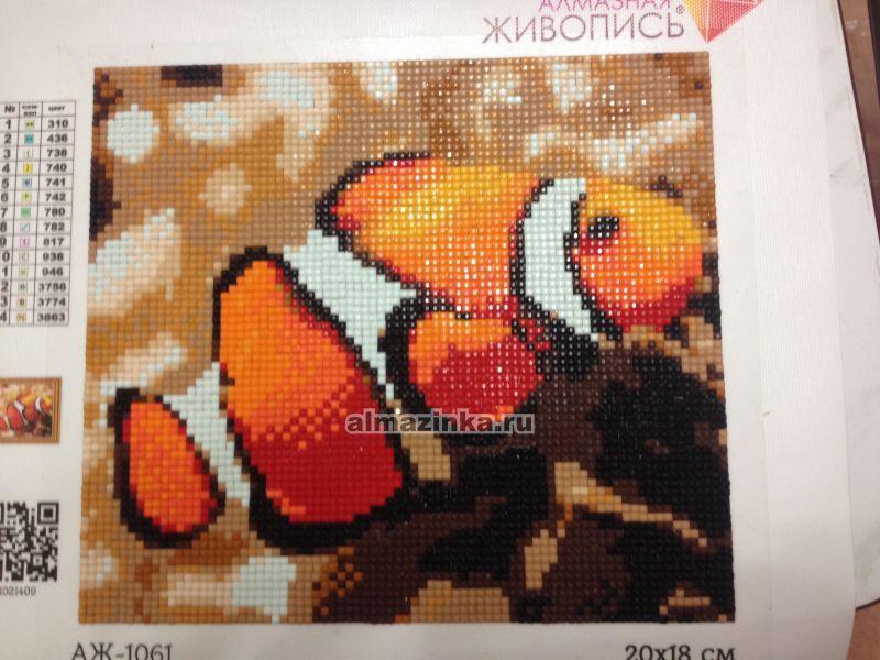 Алмазная вышивка с рыбками