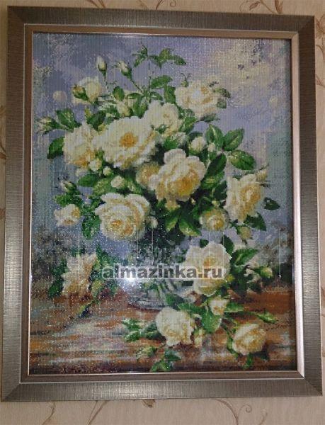 Кустовая роза алмазная вышивка