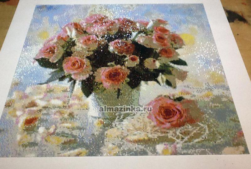 Вышивка алмазная роза