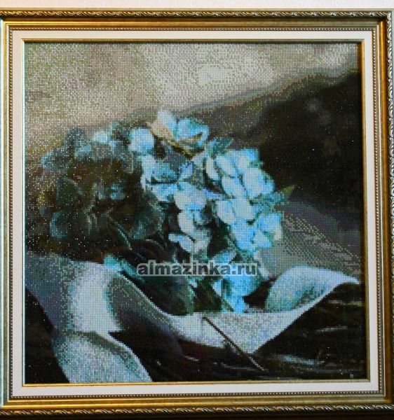 Гортензия алмазная вышивка