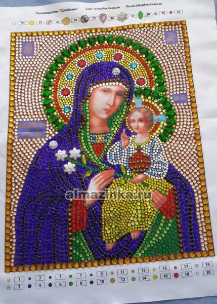 Алмазная вышивка иконы неувядаемый цвет