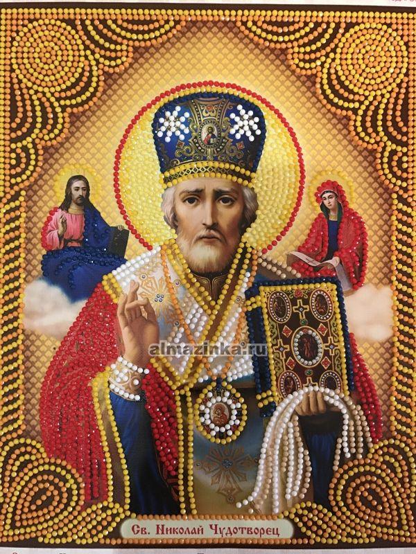 Алмазная вышивка икона николая чудотворца